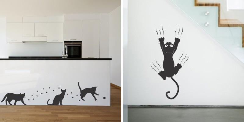 Stenska nalepka Mačka